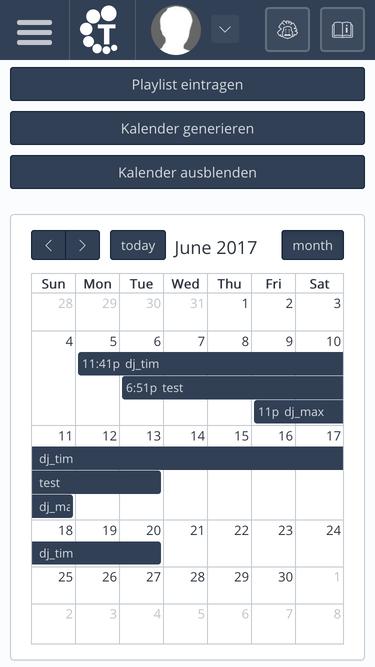 TekBASE Kundenbereich - Streamserver Kalender
